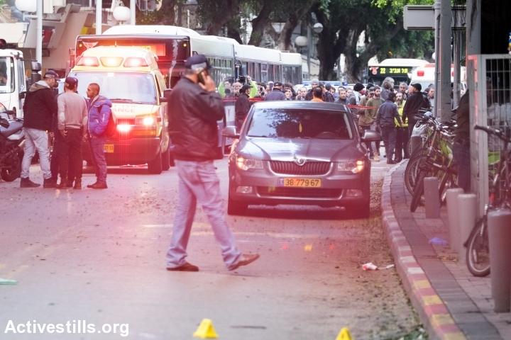 זירת הרצח הכפול ברחוב דיזנגוף, תל אביב (יותם רונן / אקטיבסטילס)
