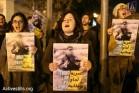 הפגנה לשחרור עזרא נאווי, גיא בוטביה ונאסר נוואג'עה. ירושלים (אורן זיו / אקטיבסטילס)
