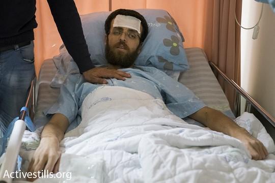 """העיתונאי מחמד אלקיק ביום ה-76 לשביתת הרעב שלו במחאה על מעצרו המנהלי בבית החולים """"העמק"""" בעפולה (אורן זיו/אקטיבסטילס)"""