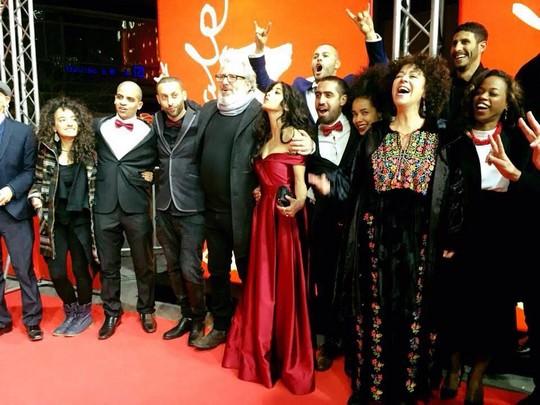 כל הצוות על השטיח האדום, בבכורת הסרט ג'נקשן 48 בפסטיבל הסרטים בברלין (באדיבות Junction48)