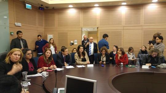 דיון בוועדה לקידום מעמד האישה בכנסת בעניין ייצוג נשים בפוליטיקה, פברואר 2016
