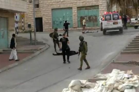 חברון, 24 במרץ 2016. צילום מסך מתוך סרטון בצלם