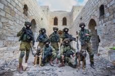 """חיילים רעולי פנים באימון לחימה בשטח בנוי (דובר צה""""ל)"""