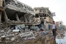 העיר צעדה בצפון מערב תימן אחרי הפצצה (OCHA / Philippe Kropf CC BY-NC-ND 2.0)