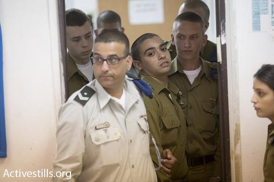 אלאור אזריה, החייל היורה מחברון, מובל לדיון הארכת מעצר (אורן זיו / אקטיבסטילס)