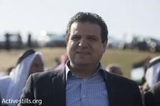 איימן עודה ביום האדמה באום אל-חיראן (אורן זיו / אקטיבסטילס)