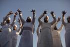 ברכת כהנים בטקס תרגול קרבן הפסח, ירושלים המזרחית (טלי מאייר / אקטיבסטילס)