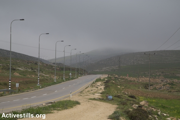 כביש, דרום הר חברון (אורן זיו / אקטיבסטילס)
