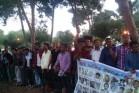 מאות מבקשי מקלט באריתריאה מוחים נגד אירוע יום העצמאות שארגנה השגרירות .6 במאי 2016