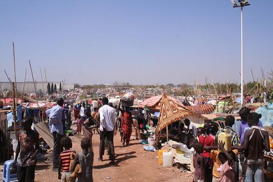 אזרחי דרום סודאן מוצאים מקלט במחנה פליטים, דצמבר 2013. (צילום: EU/ECHO/ Ludovico Gammarelli)