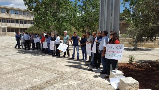 הפגנה למען דארין טאטור, בכניסה לבית המשפט בחיפה (יואב חיפאווי)