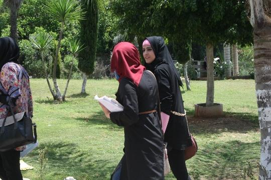 סטודנטיות פלסטיניות באוניברסיטת כדורי (חגי מטר)