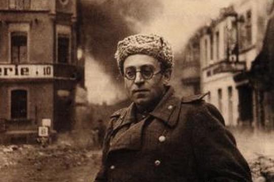 וסילי גרוסמן עם הצבא האדום בגרמניה, ככתב צבאי בחזית