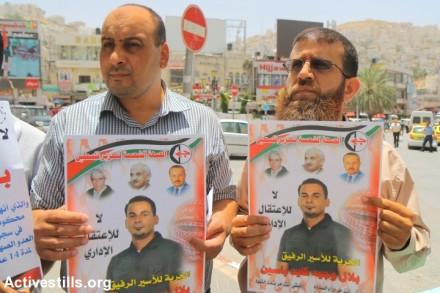 הפגנה לשחרור בילאל קאיד, שכם (אחמד אל-באז / אקטיבסטילס)