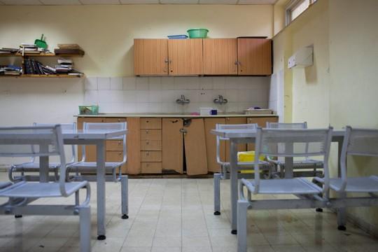 חדר אוכל לנפגעי נפש בכפר שאול, ירושלים (נועם מוסקוביץ / פלאש90)