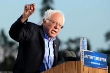 האם הדמוקרטים יצליחו ליצור גוש חוסם טראמפ בקונגרס? ברני סנדרס, מאי 2016 (Shelly Prevost CC BY 2.0)