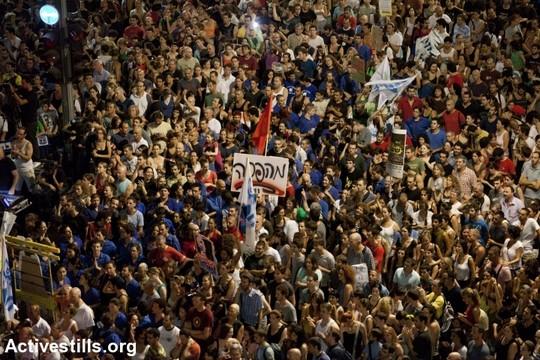 פעם דיברנו על שינוי יסודי של מבני הכוח. המחאה החברתית, תל אביב, 2011 (אורן זיו / אקטיבסטילס)