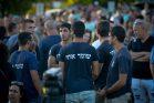 """הפגנת """"השומר החדש"""" לתמיכה בנהג המשאית שירה למוות בגנב בפלסטיני (אבי דישי / פלאש90)"""