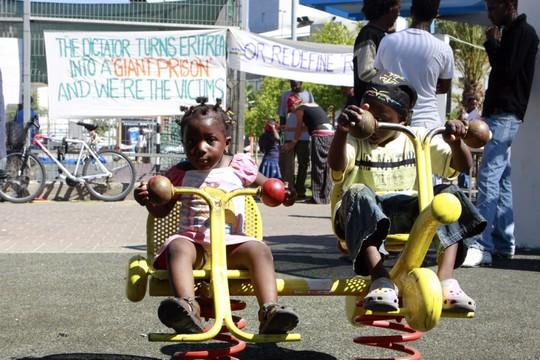 ילדי מבקשי מקלט בדרום תל אביב (אורי לנץ / פלאש90)