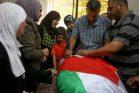 הלוויתו של איאד זכריה חמיד, שנורה למוות על ידי חיילים ליד סילוואד (STR / פלאש90)