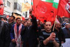 הפגנה משותפת של מפלגות השמאל ברמאללה נגד הרשות הפלסטינית, 2014 (עיסאם רימאווי / פלאש90)