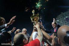 הגביע הפלסטיני הולך לקבוצת אל-אהלי חברון, גמר 2015 (אורן זיו / אקטיבסטילס)