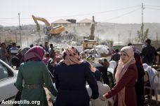 אם אין תוכנית מתאר, כל בניה היא לא חוקית ומועדת להריסה. הריסת בית, בית חנינא, מזרח ירושלים (אורן זיו / אקטיבסטילס)