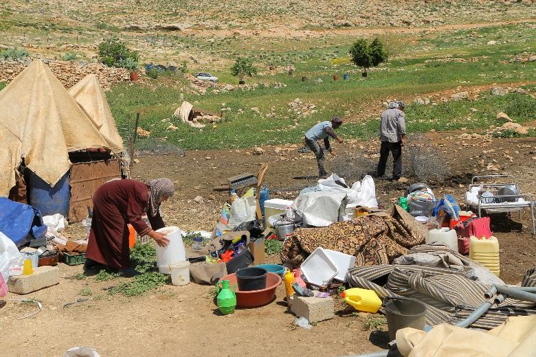חרבת טאנא, בקעת הירדן, אחרי הריסות אוהלים, מרץ 2016 (אחמד אל-באז / אקטיבסטילס)