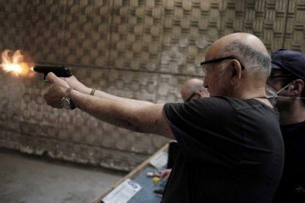 אימונים בנשק, הרצליה, אוקטובר 2015 (תומר נויברג / פלאש90)