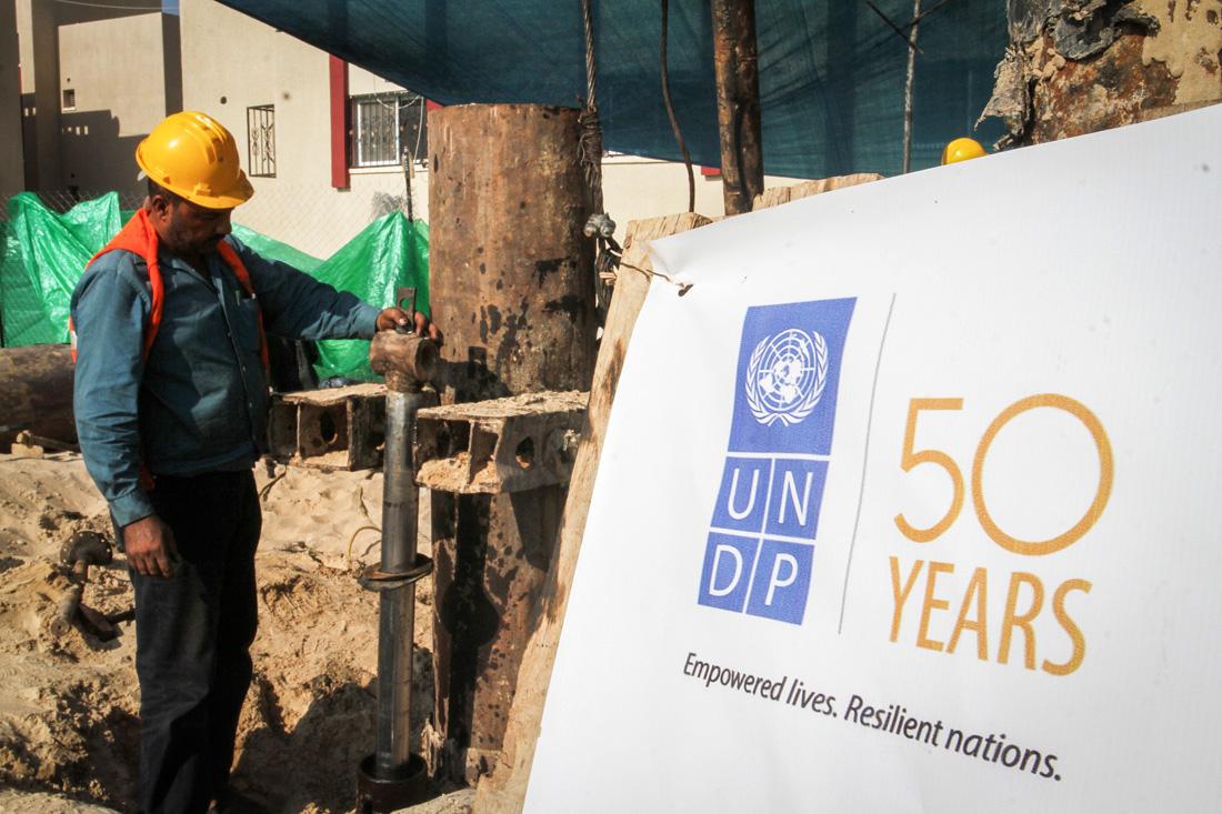 """מעצר בתנאי בידוד וללא פגישה עם עו""""ד. ומה עם החסינות? עובד UNDP מפקח על פרוייקט של הארגון בעזה (עבד רחים חטיב/פלאש 90)"""
