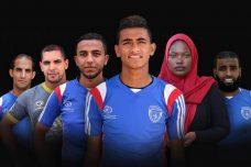 טים גאזה: שחקני קבוצת הכדורגל של מחנה הפליטים א-שאטי וכוכבי הפרויקט