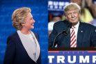 דונלד טראמפ באסיפת בחירות, והילרי קלינטון (Gage Skidmore CC BY-SA 2.0 ו-IIP Photo Archive CC BY-NC 2.0)