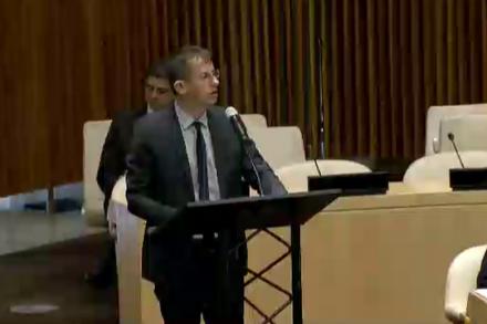 """חגי אלעד, מנכ""""ל בצלם, בדיון מועצת הביטחון של האו""""ם לפני שנתיים"""
