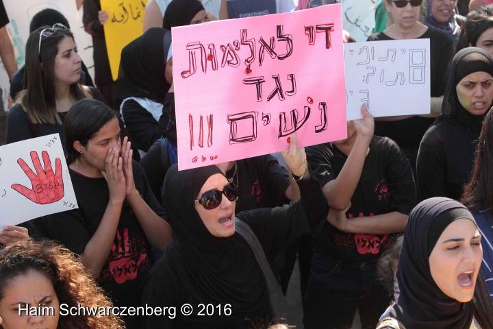 הפגנה נגד רצח נשים, יפו, 28.10.16 (חיים שוורצנברג)
