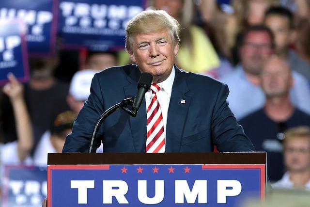 דונלד טראמפ באסיפת בחירות, החודש (Gage Skidmore CC BY-SA 2.0)