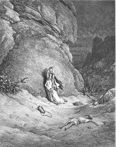 הגר וישמעאל במדבר בתחריט של גוסטב דורה, 1866