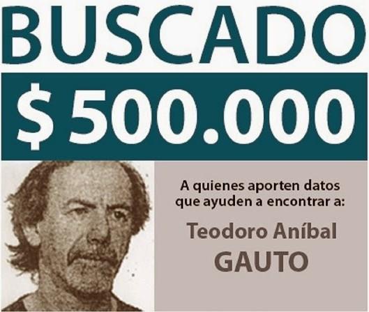 """תיאודור אניבל גאוטו, או יוסף כרמל (תמונה מכרזת """"מבוקש"""" של ארגנטינה)"""