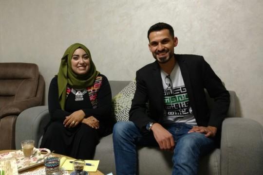 אנס אבו דעאבס ואשתו הטריה רוקייה סבאח (אורלי נוי)