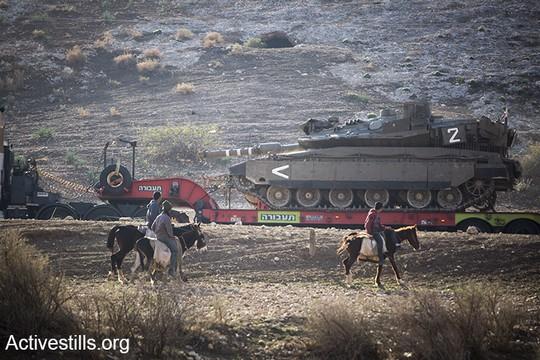תרגיל צבאי בבקעת הירדן. 8 בדצמבר 2016. (קרן מנור/אקטיבסטילס)