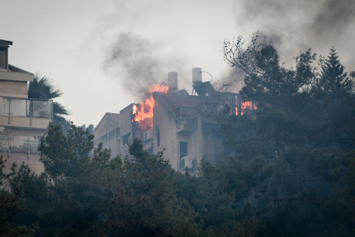 השריפה בחיפה (מאיר ועקנין / פלאש90)