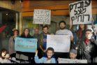 הפגנה לתמיכה בעובדי הכרמלית בזמן השימועים (יאיר גיל)