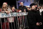 נוצרים חוגגים את חג המולד ביפו, 2015 (תומר נויברג / פלאש90)