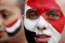 אוהד כדורגל ממצרים בעת משחקי אליפות אפריקה (צילום: ויסאם נסאר, פלאש90)
