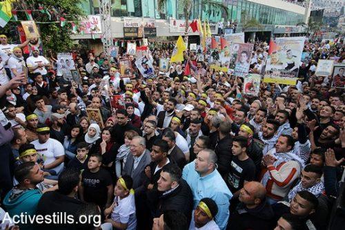 הפגנות המוניות בישראל, בגדה ובעזה בסולידריות עם שביתת הרעב של האסירים