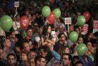 דברו על הפיל שבחדר. הפגנת שמאל בכיכר רבין, מרץ 2015 (הדס פרוש/פלאש90)