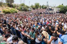 אלפים לוקחים חלק בתפילת מחאה בוואדי ג'וז, ירושלים המזרחית (צילום: יותם רונן/אקטיבסטילס)