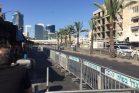 רחובות סטריליים לקראת ביקור נתניהו בדרום תל אביב (צילום: חגי מטר)