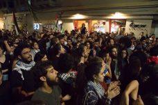 כ-300 מפגינים קוראים נגד הטבח בעזה. חיפה 18. במאי 2018. (צילום: נדין נאשף)