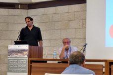 """גלעד אך, מנכ""""ל """" ארגון הימין פורום ישראל ירוקה"""" בכנס """"איכות סביבה ושמירת טבע חוצי גבולות"""" (אורלי נוי)"""