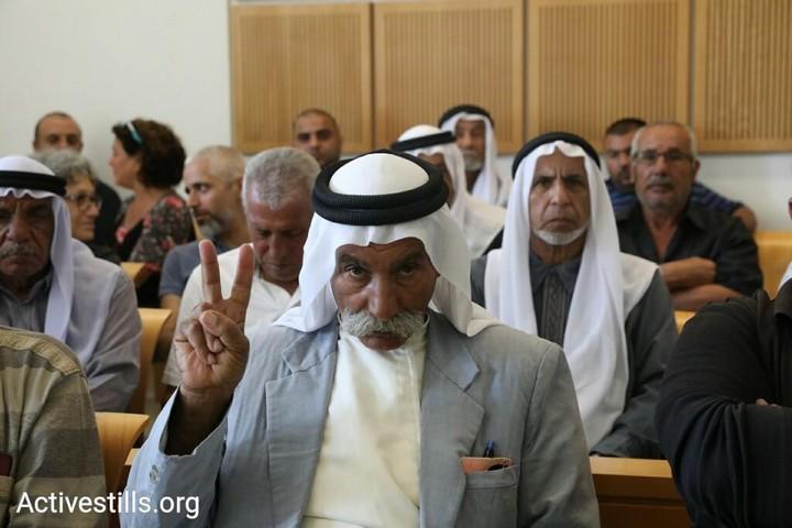 שיח' סיאח בדיון על ערעורו בבית המשפט המחוזי בבאר שבע, ב-28 באוגוסט 2018 (צילום: אורן זיו / אקטיבסטילס)